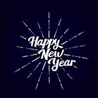 gelukkig nieuwjaar vintage belettering tekst vector