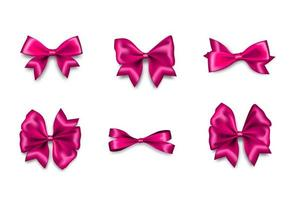 vakantie satijn roze cadeau boog knoop lint textiel verkoop tape voor Valentijnsdag vector
