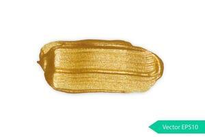 gouden acryl penseelstreek vlek