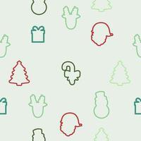 Kerst element pictogram naadloze patroon