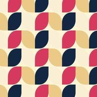 retro geometrische patroonvector, abstract retro patroon als achtergrond.