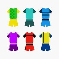 vector collectie van sportteam uniformen