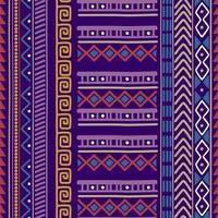 naadloze vector tribal textuur set. etnische motieven groeperen naadloze textuur.