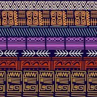 naadloze vector tribal textuur set. etnische motieven groeperen naadloze textuur. vintage etnische naadloze achtergrond.