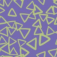 vector naadloze structuurpatroon als achtergrond. hand getrokken, paarse, groene kleuren.