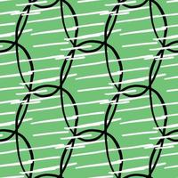vector naadloze structuurpatroon als achtergrond. hand getrokken, groene, zwarte, witte kleuren.