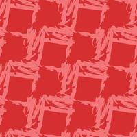 vector naadloze structuurpatroon als achtergrond. hand getrokken, rode kleuren.