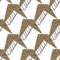 vector naadloze structuurpatroon als achtergrond. hand getrokken, bruin, zwart, witte kleuren.