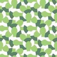 vector naadloze structuurpatroon als achtergrond. hand getrokken, groene, witte kleuren.