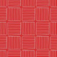 vector naadloze structuurpatroon als achtergrond. hand getrokken, rode, witte kleuren.
