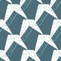 vector naadloze structuurpatroon als achtergrond. hand getrokken, blauwe, witte kleuren.