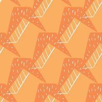 vector naadloze structuurpatroon als achtergrond. hand getrokken, oranje, witte kleuren.
