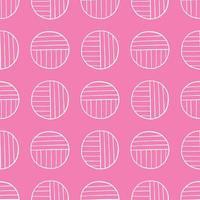 vector naadloze structuurpatroon als achtergrond. hand getrokken, roze, witte kleuren.