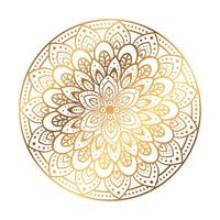 gouden mandala op witte achtergrond vector