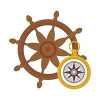 roer met kompas vector ontwerp