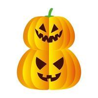 halloween pompoenen tekenfilms vector ontwerp