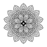 bloem mandala op witte achtergrond, vintage luxe mandala vector
