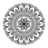 circulaire mandala op witte achtergrond, vintage luxe mandala vector