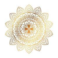 gouden bloem mandala op witte achtergrond, vintage luxe mandala vector