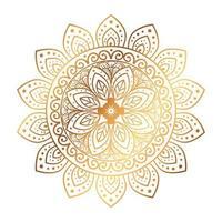 gouden bloem mandala, vintage luxe decoratie pictogram vector