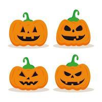 halloween pompoenen tekenfilms decorontwerp vector