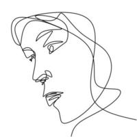 vrouw gezicht continu lijntekening. schoonheid mode vrouwelijke jonge figuur.