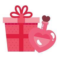 geschenkdoos en geur met hartfles