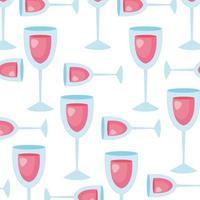 achtergrond van bekers wijn pictogrammen
