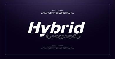 abstracte moderne alfabet cursieve lettertypen en cijfers