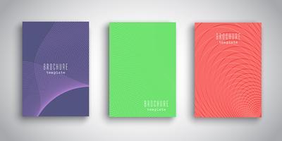 Abstracte brochureontwerpen