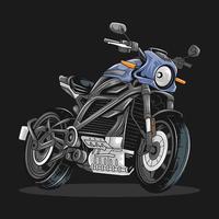 coole biker sportfiets. bewerkbare lagen vectorillustraties