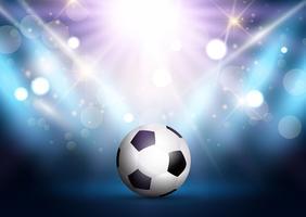 Voetbal onder schijnwerpers vector