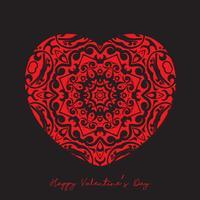 Decoratieve hartachtergrond voor de dag van Valentine vector