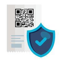 qr-code ontvangstpapier en schild vectorontwerp vector