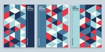 voorbladsjabloon met geometrisch ontwerp vector