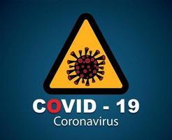 covid-19, concept van de uitbraak van het coronavirus. vector