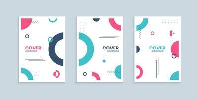 memphis covercollectie met kleurrijke cirkels vector