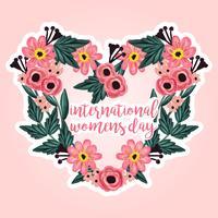 Vector International Women's Day bloemen krans