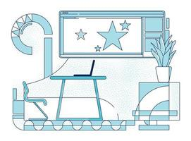 bedrijf teamleider werkplek overzicht vectorillustratie vector