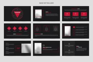 bedrijfsinformatie grafische sjabloon voor bedrijfspresentatiesjabloon vector