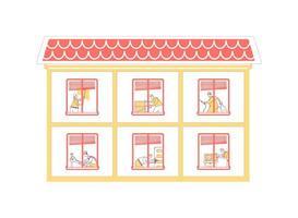 huis reparatie egale kleur vectorillustratie