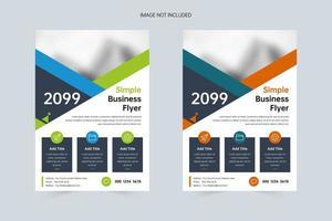 eenvoudige bedrijfspromotie a4 flyer-sjabloon vector