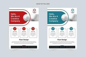 zakelijke eenvoudige a4 flyer voorbladsjabloon vector