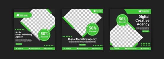 social media marketing bureau. digitaal marketingbureau. digitaal creatief bureau. sociale media plaatsen bannermalplaatje voor uw bedrijf. vector