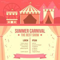 Zomer Carnaval Poster Gratis Vector