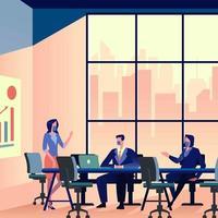 nieuwe normale zakelijke bijeenkomst vector