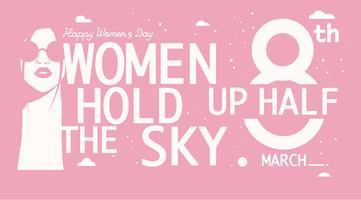 Internationale Vrouwendag Quote 2 Vector