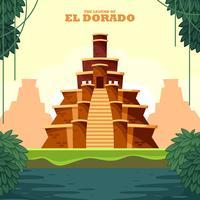 De legende van El Dorado Vector