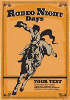 Paarden Rodeo Flyer vector