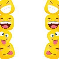 frame van grappige vierkante emoticons